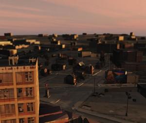 Portlock 'Ghost City #17' 54 x 72 in, inkjet 2009